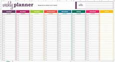 Excel Template Planning Basic Weekly Planner Excel Template Savvy Spreadsheets