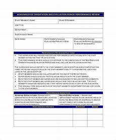 Employee Review Form Free 7 Sample Employee Review Forms In Pdf Ms Word
