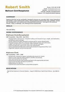 Mailroom Clerk Resume Sample Mailroom Clerk Resume Samples Qwikresume