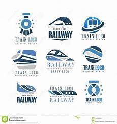 Train Company Logos Train Logo Original Design Set Modern Railway Railroad