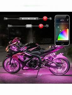 Led Light Kits For Motorcycles Xk Glow 6 Pod 6 App Control Motorcycle Led Accent