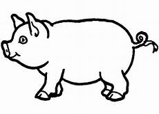 Farm Animal Outlines 40 Pig Shape Templates Crafts Amp Colouring Pages Farm