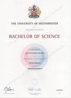 First Class Honors First Class Honours Degree Bsc In Herbal Medicine Iulia