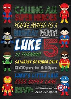 Printable Superhero Invitations Superhero Birthday Invitations Printable Digital File