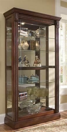 pulaski curio cabinet 20485 two way sldg door curio 20485