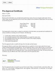 Pre Approval Letter Sample Get Pre Approved For A Mortgage On Zillow Zillow