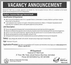 Job Advertisements Samples National Ict R D Assistant Manager Internal Auditor Jobs