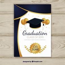 Design Graduation Invitations Online Free Graduation Invitation Template With Flat Design Free Vector