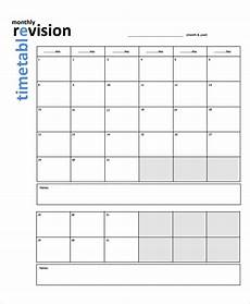 Blank Revision Timetable Template Free 9 Sample Revision Timetable Templates In Pdf Ms Word