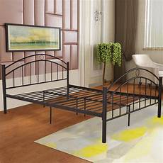 giantex black size metal steel bed frame mattress