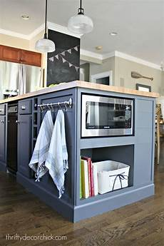 kitchen island microwave august 2015 from thrifty decor