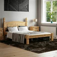 carlow antique pine bed frame 4ft 6 wooden solid