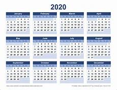 Download Yearly Calendar 2020 Download A Free Printable 2020 Yearly Calendar From