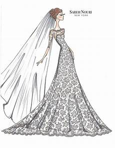 Dress Designing Sketches From Sketch To Gown Wedding Dress Designer Sketches By