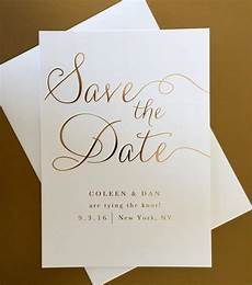 Wedding Save The Date Invitations Gold Foil Wedding Save The Date Example