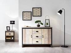 gfw boston 2 door 3 drawer sideboard in distressed oak