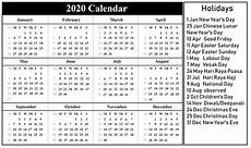 2020 calendar templates with holidays printable 2020 calendar with holidays holiday calendar