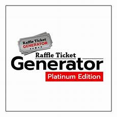 Online Raffle Ticket Generator Raffle Ticket Generator Platinum Edition W 1 Year Support