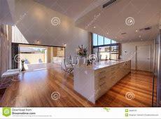 Luxurious Modern Open Plan Galley Kitchen Stock Image   Image of breakfast, ceilings: 26669787
