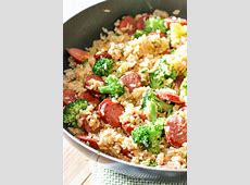 Smoked Sausage & Rice One Skillet Meal   All Things Mamma