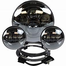 Harley Light 7 Quot Black Led Projector Daymaker Headlight Passing Lights