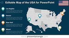 Us Map Template Powerpoint Usa Editable Powerpoint Map Presentationgo Com