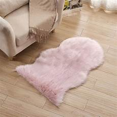 fluffy plain sheepskin rug soft faux fur shaggy area rugs