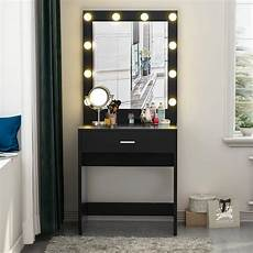Vanity Table Set With Lights Vanity Makeup Dressing Table Set Jewelry Desk With 10led
