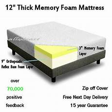 12 inch thick 5ft king bed size memory foam orthopaedic