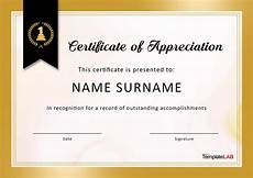 Appreciation Certificates For Employees 30 Free Certificate Of Appreciation Templates And Letters