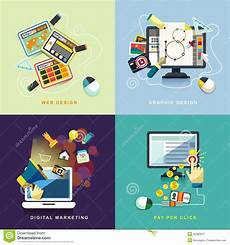 Marketing Graphic Design Flat Web And Graphic Design Marketing Pay Per Click