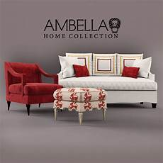Home Usa Sofa 3d Image by 3d Model Sofa Armchair Pouffe Ambella Home Cgtrader