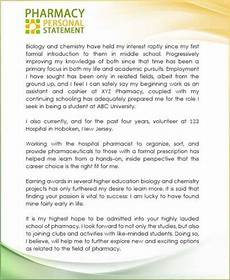Pharmacy Essays Personal Statement Pharmacy School Sample Google Search