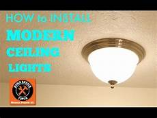 How To Install Ceiling Light In Old House Modern Ceiling Lights How To Install By Home Repair