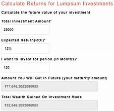 Rupee Inflation Calculator Sip Calculator Monthly Lumsump With Inflation Calculate