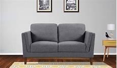 Armen Sofa 3d Image by Brussels Modern Gray Fabric Walnut Wood Legs Loveseat