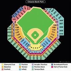 Citizens Bank Field Seating Chart Citizens Bank Park Philadelphia Phillies Ballpark