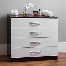 hulio 4 drawer chest of drawers wood high gloss bedroom
