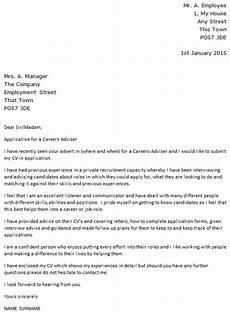 Advisor Cover Letter Careers Adviser Cover Letter Example Icover Org Uk