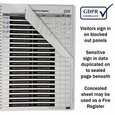 Visitor Signing In Book Gdpr Confidential Sign In Visitor Book