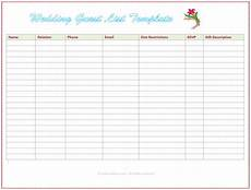 Wedding Guest List Spread Sheet 7 Free Wedding Guest List Templates And Managers