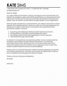 Work Letter Social Work Cover Letter Sample Sample Cover Letters