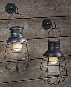 Caged Patio Lights Solar Cage Lantern Amp Wall Hook Ltd Commodities