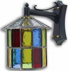 Coloured Outdoor Lantern Lights 10 Photos Stained Glass Outdoor Wall Lights