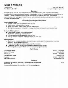 Job Description For Accounting Clerk Best Accounting Clerk Resume Example Livecareer
