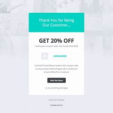 Html Coupon Template Drip Email Templates Coupon Code Template