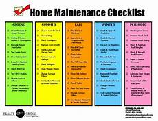 House Maintenance Checklist Home Maintenance Checklist Printable If You Have Your