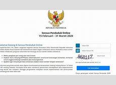Daftar Sensus Penduduk Online 2020, Login di sensus.bps.go