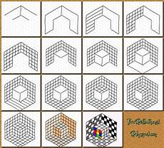 Graph Paper Art Step By Step With Isometric Paper Instead Would Make It Easier For