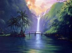 sweet serenity bridge flowers island palms tropical